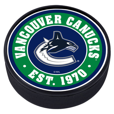 Vancouver Canucks Established Textured Puck