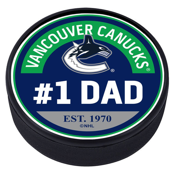 Vancouver Canucks #1 Dad Textured Puck