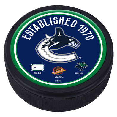 Vancouver Canucks Heritage Textured Puck