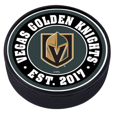 Vegas Golden Knights Established Textured Puck