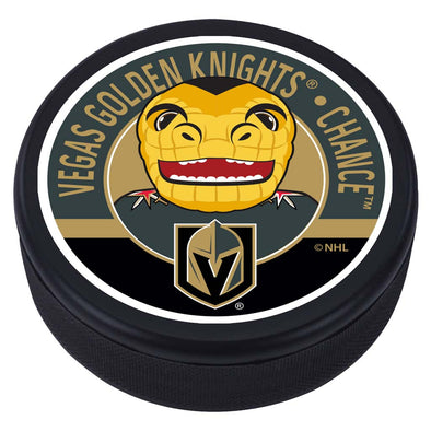 Vegas Golden Knights Chance Mascot Textured Puck