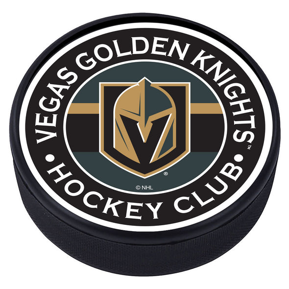 Vegas Golden Knights Striped Puck
