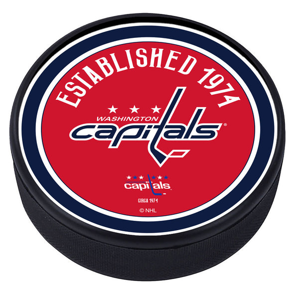 Washington Capitals  Heritage Textured Puck