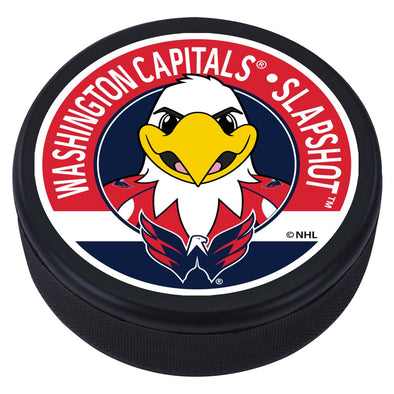 Washington Capitals Slapshot Mascot Textured Puck