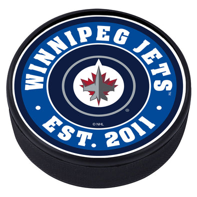 Winnipeg Jets Team Established Textured Puck