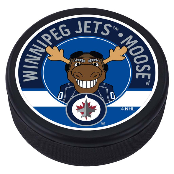 Winnipeg Jets Moose Mascot Textured Puck