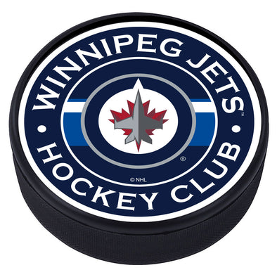 Winnipeg Jets Striped Puck