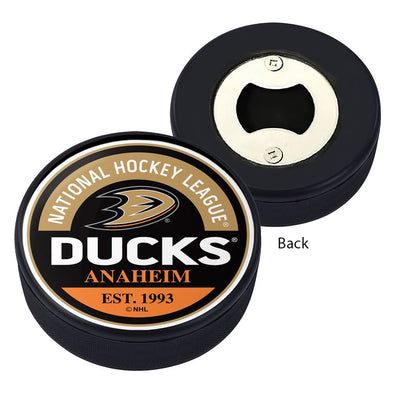 Anaheim Ducks Block Textured Puck Opener