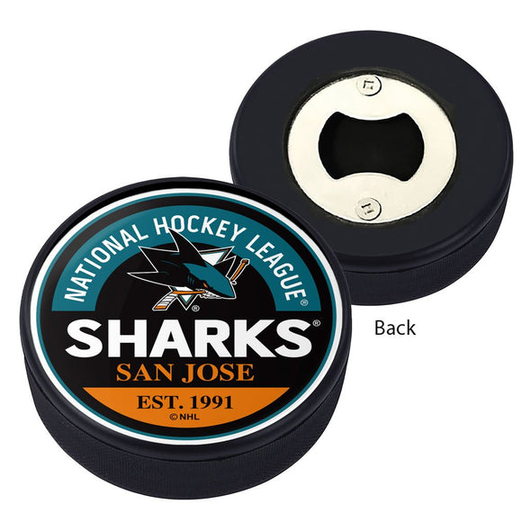 San Jose Sharks Block Textured Puck Opener