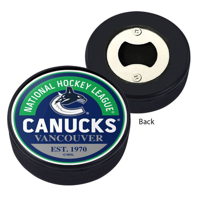Vancouver Canucks Block Textured Puck Opener