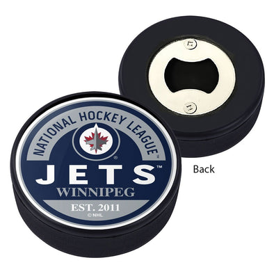 Winnipeg Jets Block Textured Puck Opener