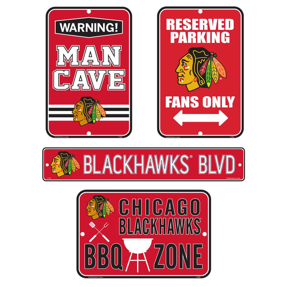 Chicago Blackhawks Fan Four Pack Sign Set