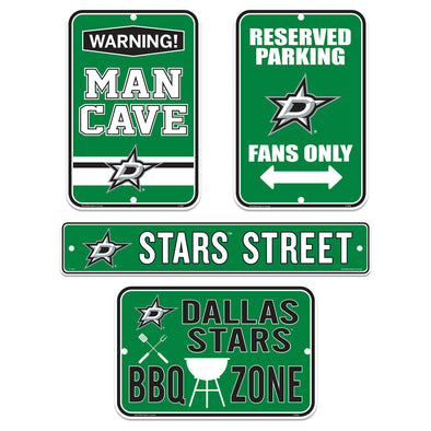 Dallas Stars Fan Four Pack Sign Set
