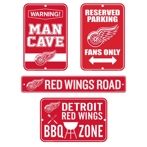 Detroit Red Wings Fan Four Pack Sign Set