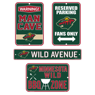 Minnesota Wild Fan Four Pack Sign Set