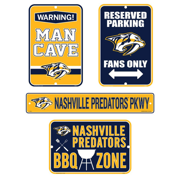 Nashville Predators Fan Four Pack Sign Set