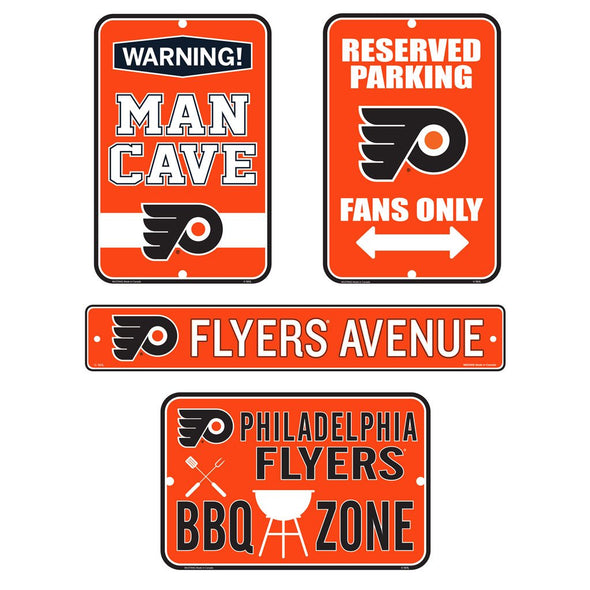 Philadelphia Flyers Fan Four Pack Sign Set