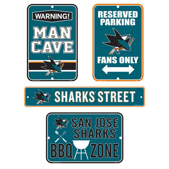 San Jose Sharks Fan Four Pack Sign Set