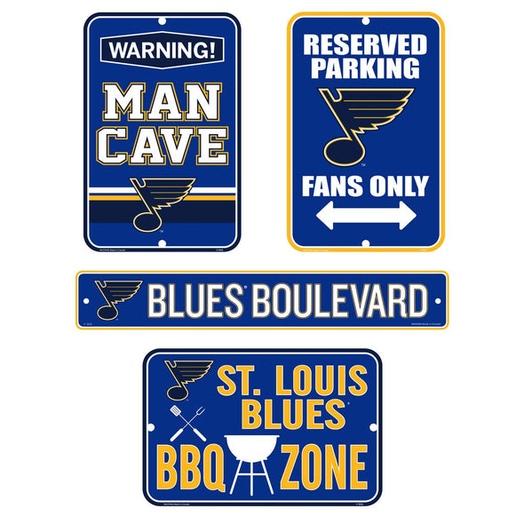 St. Louis Blues Fan Four Pack Sign Set
