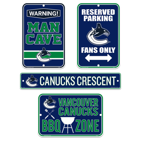 Vancouver Canucks Four Pack Fan Sign Set