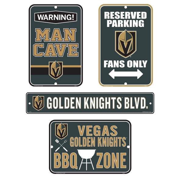 Vegas Golden Knights Fan Four Pack Sign Set