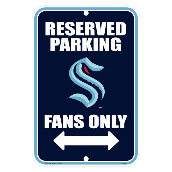 Seattle Kraken Parking Sign