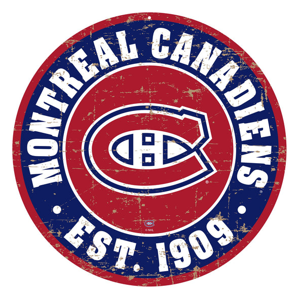 "Montreal Canadiens 22"" PVC Distressed Logo Wall Sign"