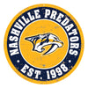 "Nashville Predators 22"" Round PVC Distressed Logo Wall Sign"