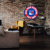 "New York Rangers 22"" Round PVC Distressed Logo Wall Sign"