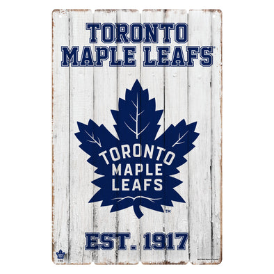 Toronto Maple Leafs 24x16 Established Faux  Wood Sign