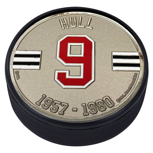 Medallion Puck - Chicago Blackhawks 09 B. Hull Years