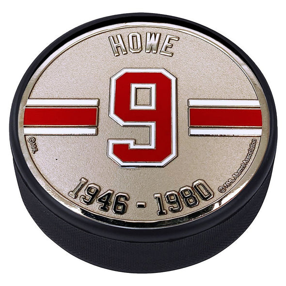 Medallion Puck - Detriot Red Wings 09 G.Howe Years