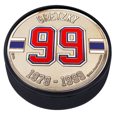 Medallion Puck - Edmonton Oilers 99 W.Gretzky Years