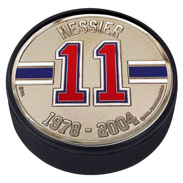 Medallion Puck - New York Rangers 11 M. Messier Years