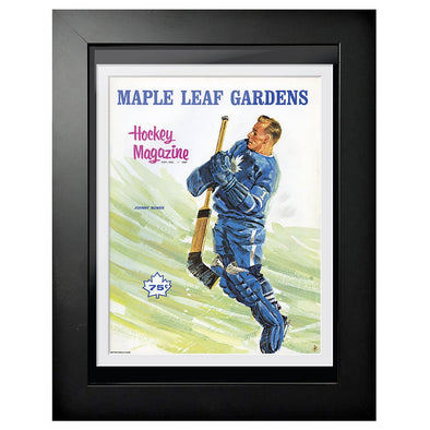 Toronto Maple Leafs Program Cover - Johnny Bower at Maple Leafs Garden