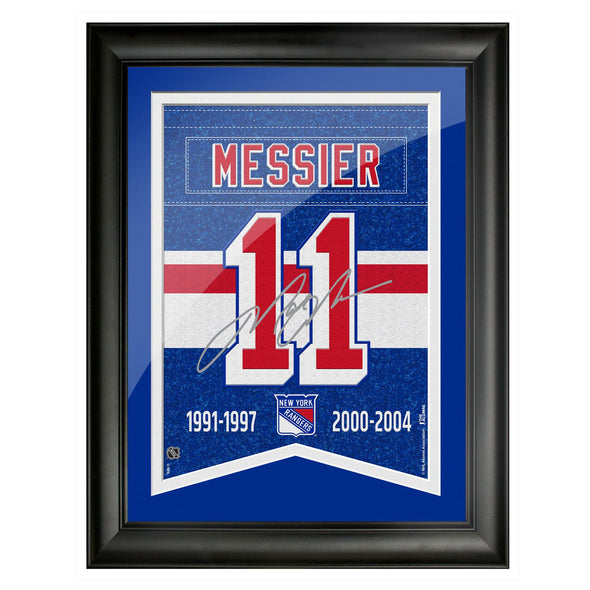 New York Rangers Messier Framed Player Number with Replica Autograph