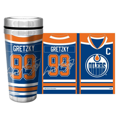 NHLAL Edmonton Oilers 16oz. Travel Mug Full Wrap - Gretzky
