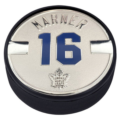 Toronto Maple Leafs Silver Plated Medallion Puck – Mitch Marner