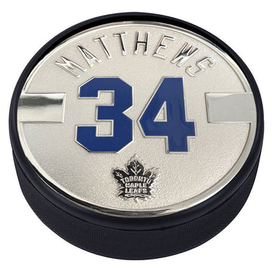 Toronto Maple Leafs Silver Plated Medallion Puck – Auston Matthews