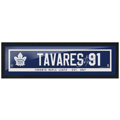 Toronto Maple Leafs Tavares Framed Player Name Bar with Replica Autograph