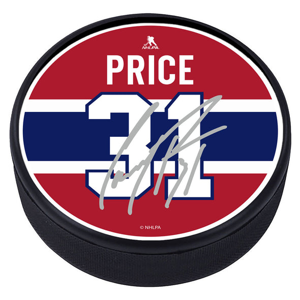 Montreal Canadiens™ C. Price Souvenir Player Puck with Replica Signature