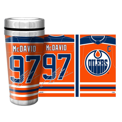 NHLPA Edmonton Oilers 16oz. Travel Mug Full Wrap - McDavid