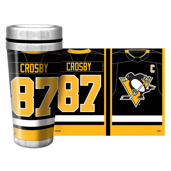 NHLPA Pittsburgh Penguins 16oz. Travel Mug Full Wrap - Crosby