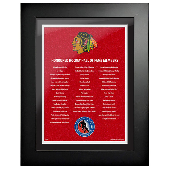 HHOF 12X16 Pic Frame Honoured Members-Chicago Blackhawks