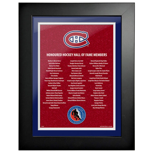 HHOF 12X16 Pic Frame Honoured Members-Montreal Canadiens
