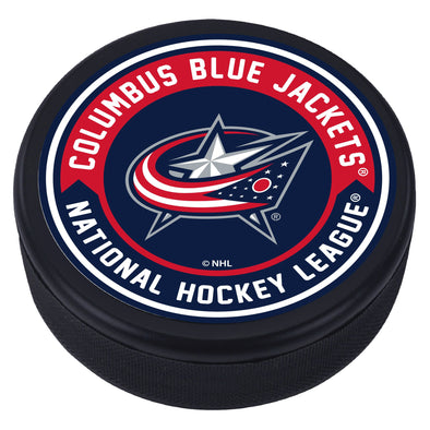 Columbus Blue Jackets Arrow Textured Puck
