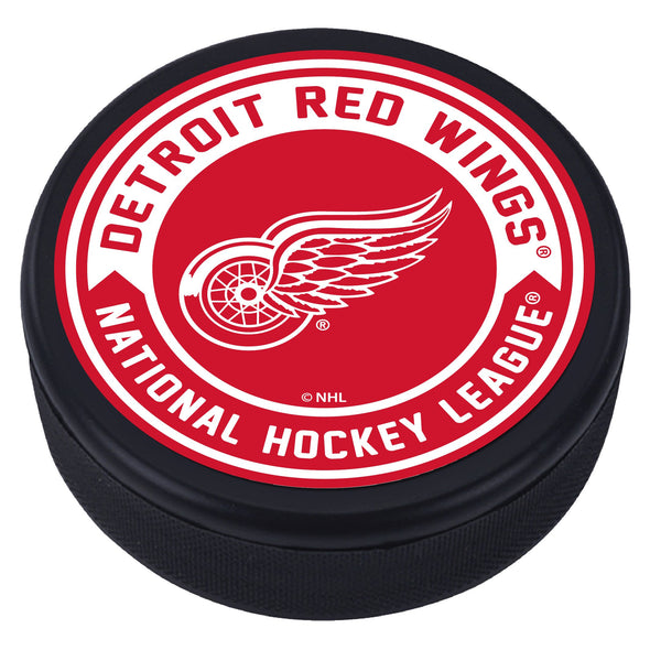 Detroit Red Wings Arrow Textured Puck