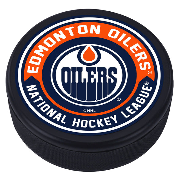Edmonton Oilers Arrow Textured Puck