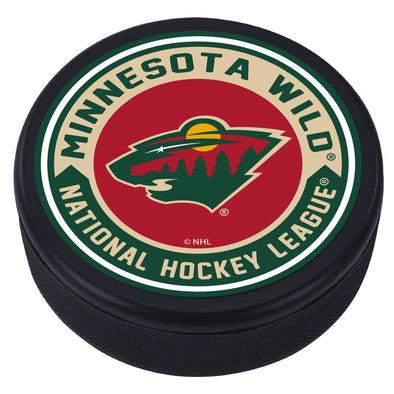 Minnesota Wild Arrow Textured Puck