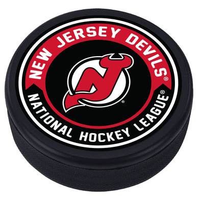 New Jersey Devils Arrow Design Puck